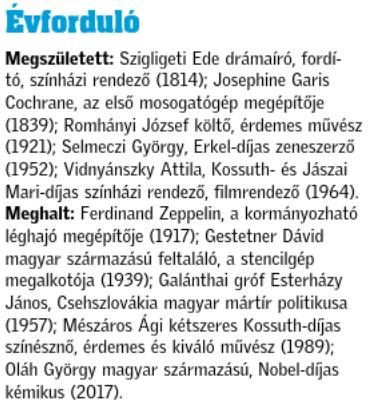 Esterházy Emlékév médiajelentés 03.08.